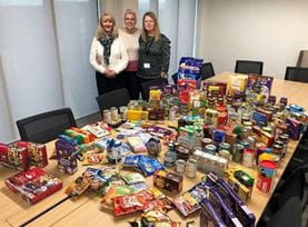 Leeds office collect and donate much needed supplies to the Trussell Trust