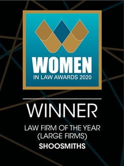Large Law Firm of the Year at the Women in Law Awards 2020