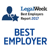 Legal Week Best Employer 2017