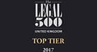 Legal 500 Top Tier Firm 2017