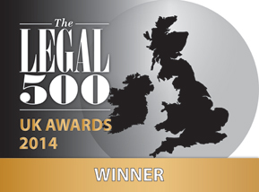 'Regional transport firm of the year (The Legal 500 UK Awards 2014)