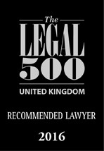 Legal 500 Recommended 2016